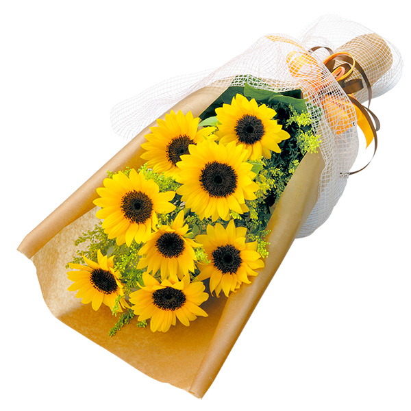 ひまわりの花束 112010 |花キューピットのひまわりギフト特集2019