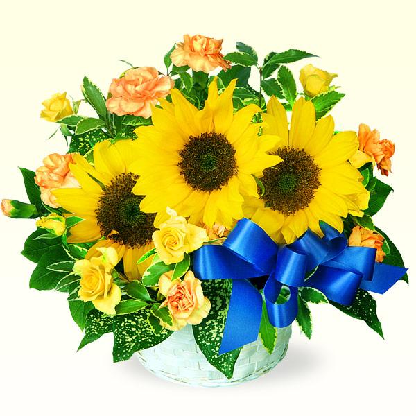 ひまわりのリボンアレンジメント 511038 |花キューピットの2019父の日プレゼント特集