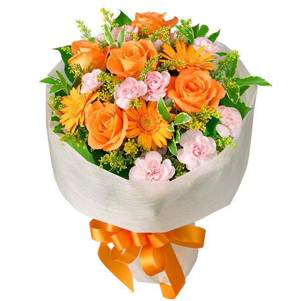 【秋の結婚記念日】オレンジバラのミックス花束 511072 |花キューピットの秋の花贈りプレゼント特集2019