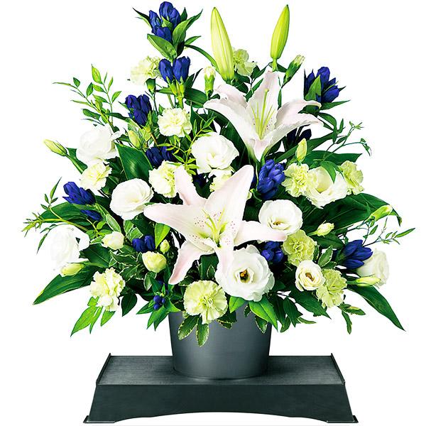 お供えのアレンジメント(供花台(小)付き) 511129 |花キューピットの2019 お盆(新盆・初盆)