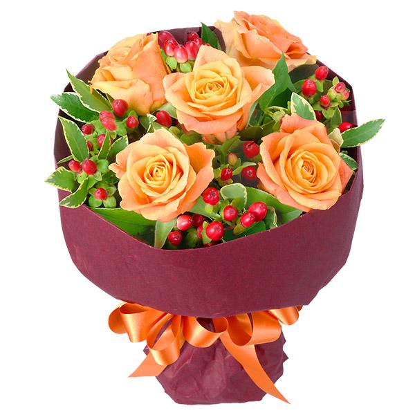 オレンジバラのブーケ 511169 |花キューピットの2019父の日プレゼント特集