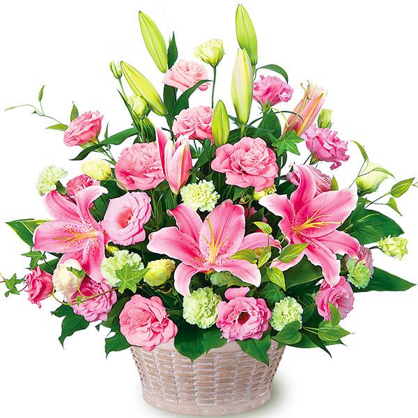 【母の日】ピンクユリとトルコキキョウのアレンジメント 511240 |花キューピットの母の日プレゼント特集2020