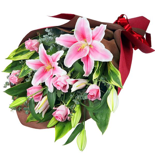 【母の日】ユリの花束 511261 |花キューピットの母の日プレゼント特集2020