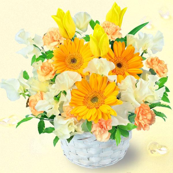 春のイエローアレンジメント(イエロー&オレンジ) |春のお祝い・イベントに!|春のお祝い特集 2019