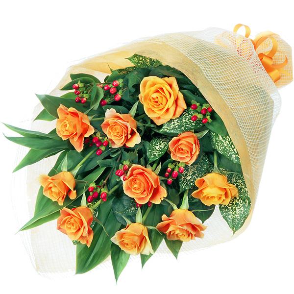 オレンジバラの花束 511647 |花キューピットの2019父の日プレゼント特集