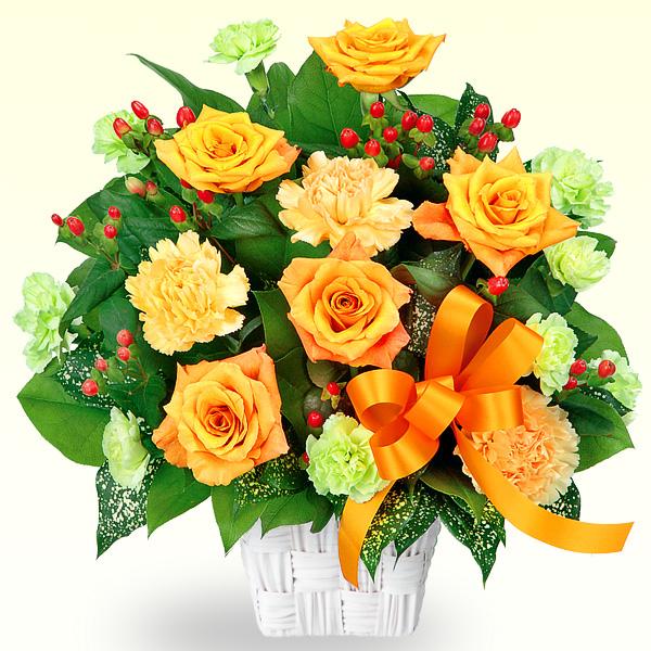 オレンジバラのアレンジメント 511767 |花キューピットの2019父の日プレゼント特集