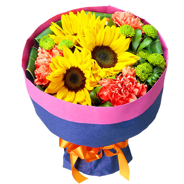 ひまわりの花キューピットブーケ 511865 |ひまわり特集特集:花キューピットおすすめフラワーギフト!