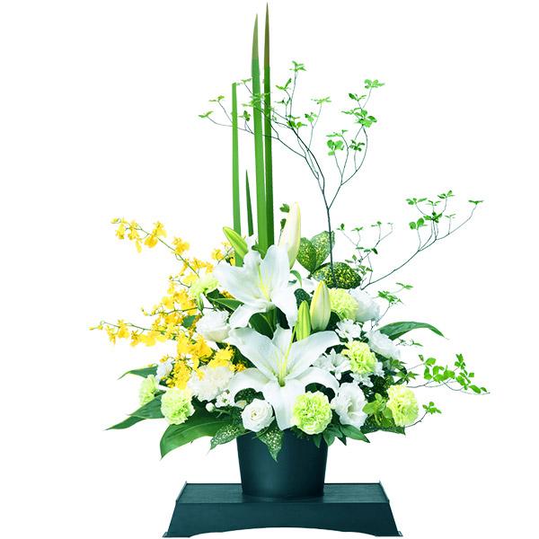 お供えのアレンジメント(供花台(中)付き) 511872 |花キューピットの2019 お盆(新盆・初盆)