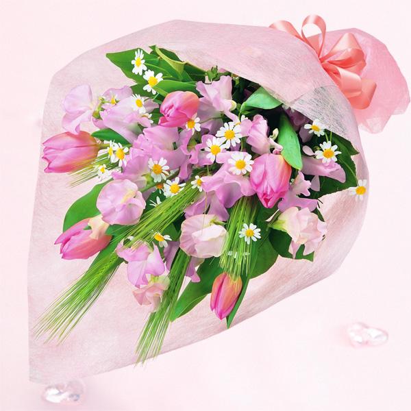 春のふんわり花束 |チューリップギフトにおすすめ!人気のプレゼント特集 2019 |チューリップ特集