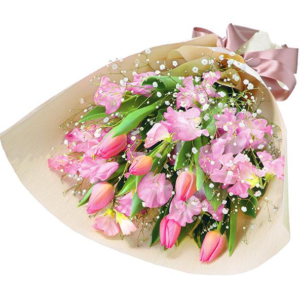 チューリップとスイートピーの花束(ピンク) |チューリップギフトにおすすめ!人気のプレゼント特集 2019 |チューリップ特集