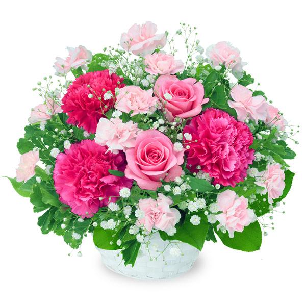 ピンクバラのアレンジメント 511964 |花キューピットの2019結婚記念日特集
