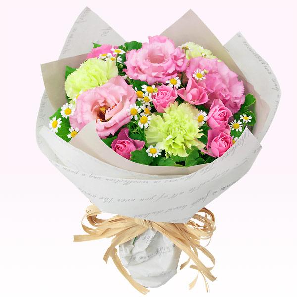 【秋の結婚記念日】バラとトルコキキョウのナチュラルブーケ 511967 |花キューピットの秋の花贈りプレゼント特集2019