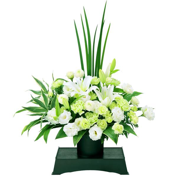お供えのアレンジメント(供花台(小)付き) 511977 |花キューピットの2019 お盆(新盆・初盆)