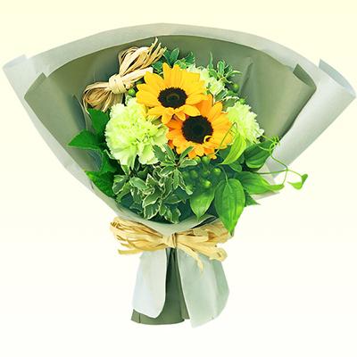 ひまわりのナチュラルブーケ 511984 |花キューピットの2019父の日プレゼント特集