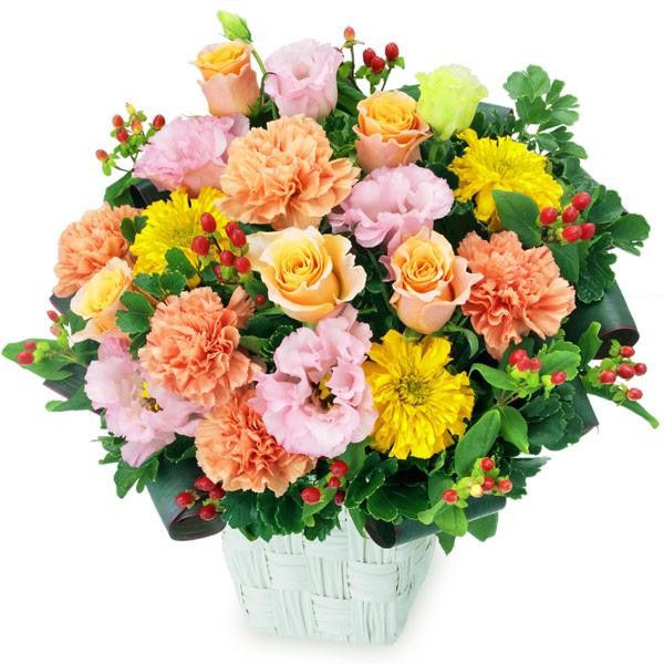 【父の日】オレンジバラとトルコキキョウのアレンジメント 512039 |花キューピットの父の日プレゼント特集2020