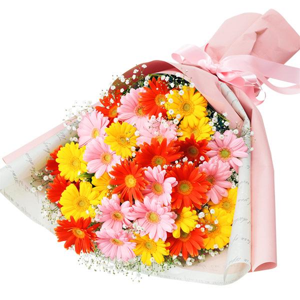 【秋の結婚記念日】カラフルなガーベラの花束 512044 |花キューピットの秋の花贈りプレゼント特集2019