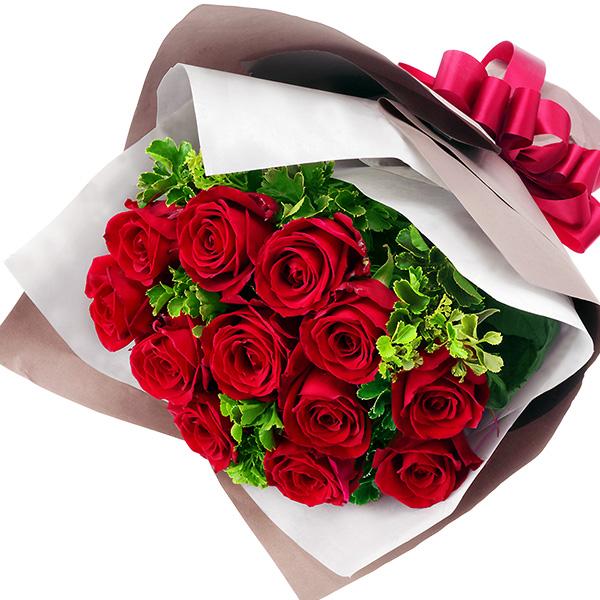 【秋の結婚記念日】ダズンローズの花束 512045 |花キューピットの秋の花贈りプレゼント特集2019