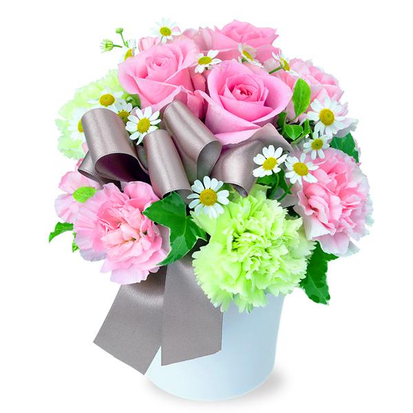 【秋の結婚記念日】ピンクバラのナチュラルアレンジメント 512046 |花キューピットの秋の花贈りプレゼント特集2019
