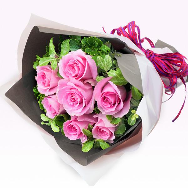 【秋の結婚記念日】ピンクバラ7本の花束 512051 |花キューピットの秋の花贈りプレゼント特集2019