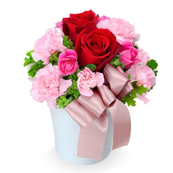 【母の日】赤バラのナチュラルアレンジメント 512052 |花キューピットの母の日プレゼント特集2020