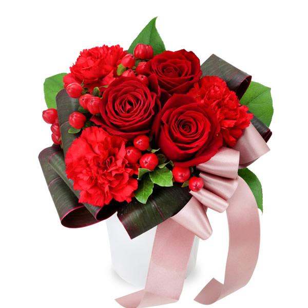 【秋の結婚記念日】赤バラのエレガントアレンジメント 512058 |花キューピットの秋の花贈りプレゼント特集2019