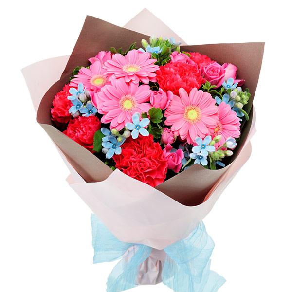 【秋の結婚記念日】ピンクとブルーの鮮やかブーケ 512063 |花キューピットの秋の花贈りプレゼント特集2019
