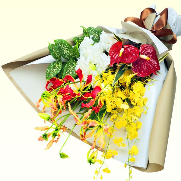 【父の日】夏の華やかな花束 512071 |花キューピットの父の日プレゼント特集2020