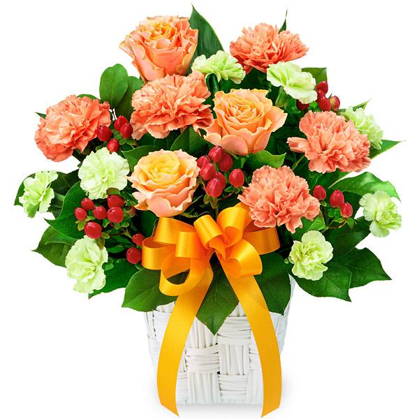 【父の日】バラとオレンジリボンのアレンジメント 512075 |花キューピットの父の日プレゼント特集2020
