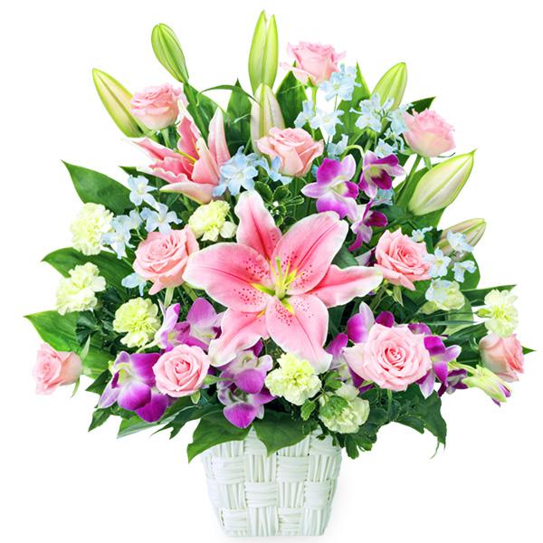 【母の日】ピンクユリとデンファレの豪華なアレンジメント 512171 |花キューピットの母の日プレゼント特集2020