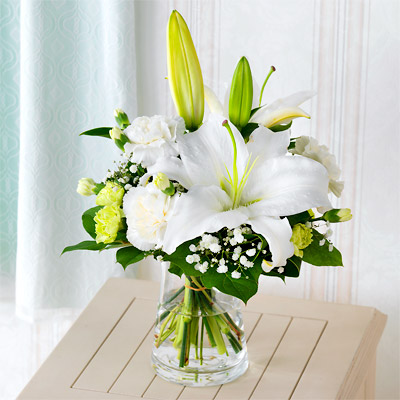 【お盆・新盆】お供えのグラスブーケ p521167 |花キューピットのお盆・新盆プレゼント特集2020