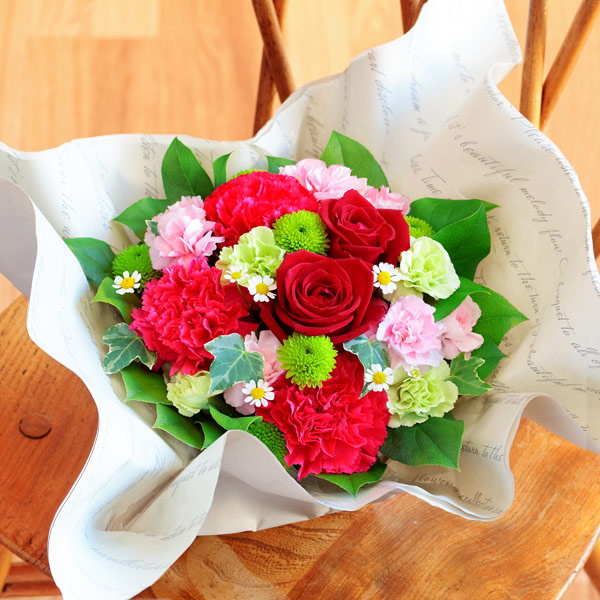 お花いっぱいアレンジメント 521285 |花キューピットの2019母の日フラワー特集