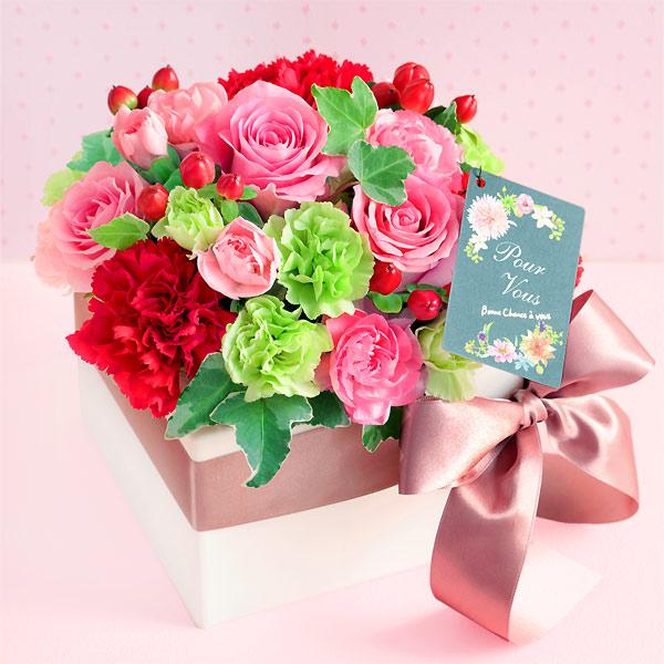 ロマンチック(バラ) 521289 |花キューピットの2019母の日フラワー特集