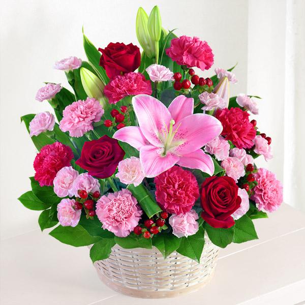 幸せたっぷりアレンジメント 521290 |花キューピットの2019母の日フラワー特集