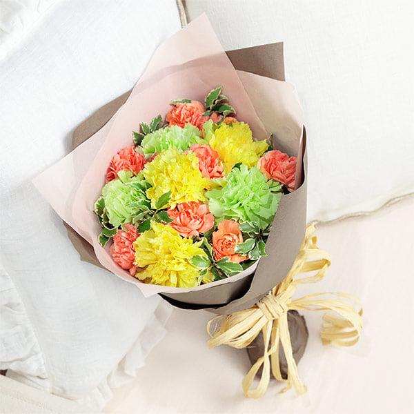 【母の日】ナチュラルブーケ(イエロー) 521293 |花キューピットの母の日プレゼント特集2021