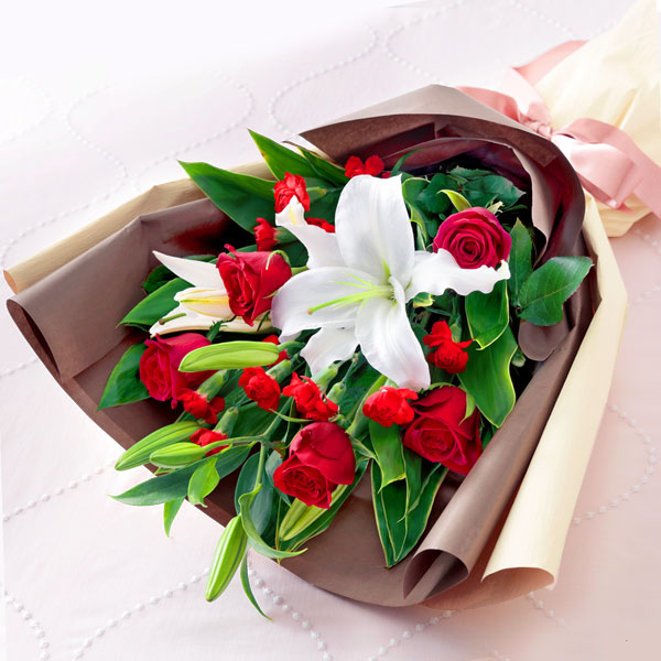 ローズ&リリーの花束 521296 |花キューピットの2019母の日フラワー特集