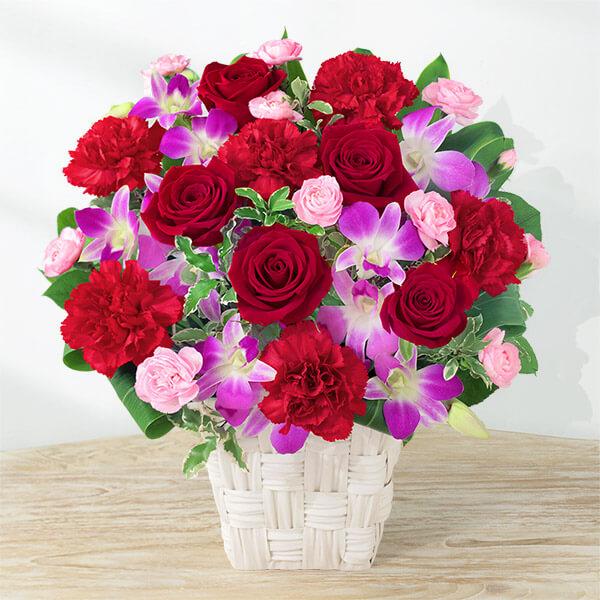 【母の日】幸せたっぷりアレンジメント 521317 |花キューピットの母の日プレゼント特集2021