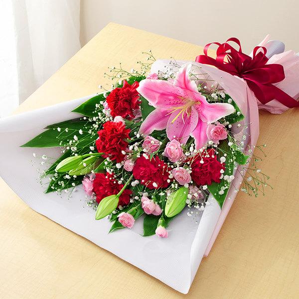【母の日】ピンクユリの花束 521318 |花キューピットの母の日プレゼント特集2021