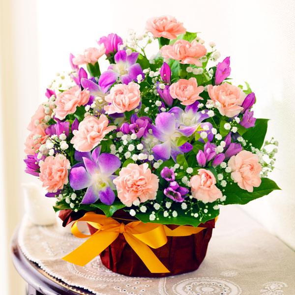 秋のピンクアレンジメント 522067 |敬老の日におすすめ!人気のプレゼント特集 2018