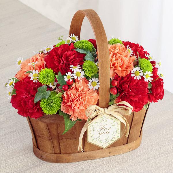 【母の日】ハッピー(レッド) 613262 |花キューピットの母の日プレゼント特集2021