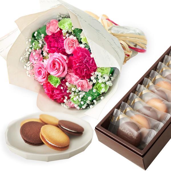 ティーブーケと【ホテルオークラ】ビスキュイ・サンド b14521295 |花キューピットの2019母の日プレゼント特集