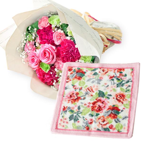ティーブーケと【FEILER】イングリッシュローズ ハンカチ c60521295 |花キューピットの2019母の日プレゼント特集
