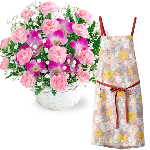 スイートとラップエプロン(花柄・ピンク) i08521252 |花キューピットの2019母の日プレゼント特集