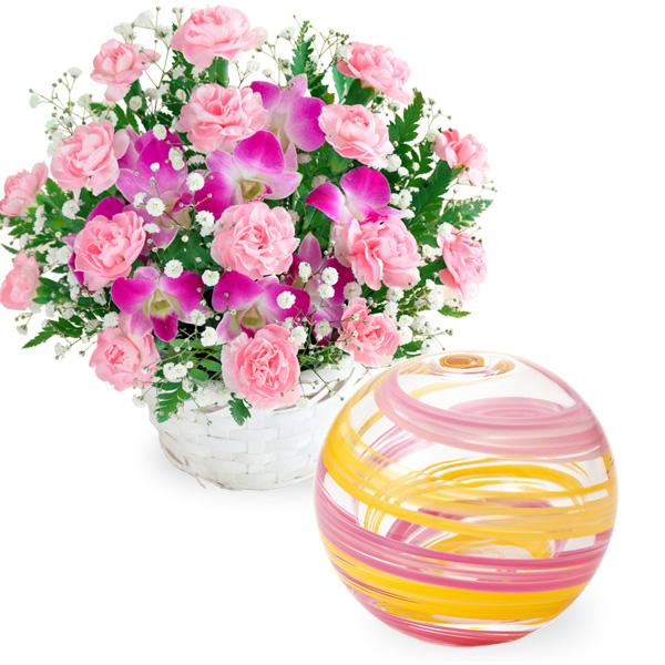スイートと【津軽びいどろ】一輪挿し(桜風) t57521252 |花キューピットの2019母の日プレゼント特集