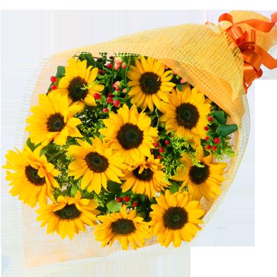 就職や結婚のお祝いに応援・激励の花束|花キューピットのひまわりギフトおすすめギフト 2019