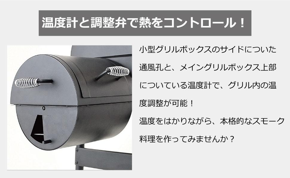 温度計と調整弁で熱をコントロール