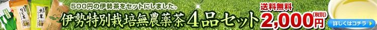 特別栽培無農薬茶4品セット