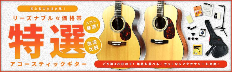 初心者の方は必見!入門に最適!リーズナブルな価格帯「特選」アコースティックギター!