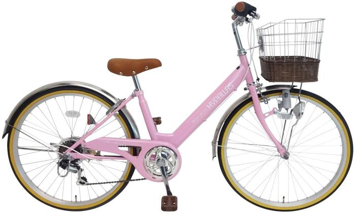 My Pallas M-811 子供用自転車24・6SP ピンクの概観