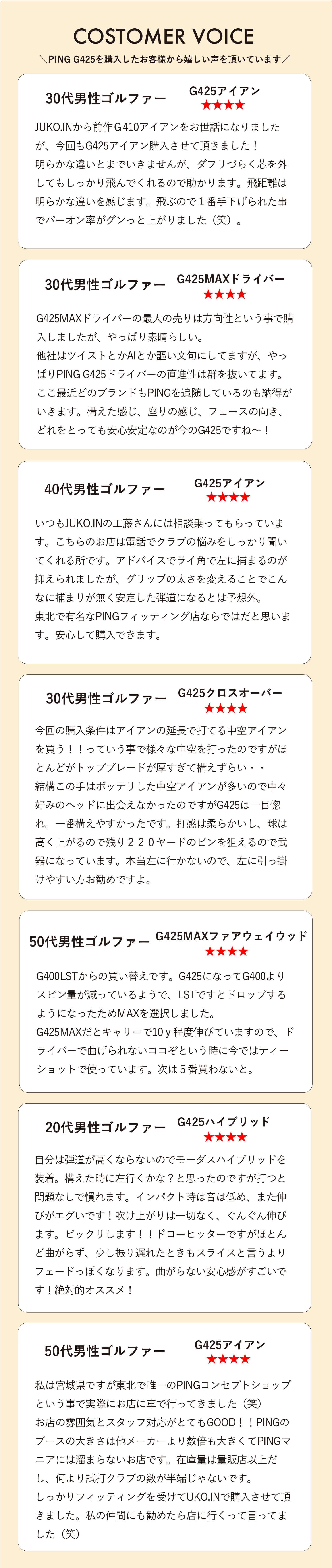 2020年度PINGフィッターオブザイヤー受賞01