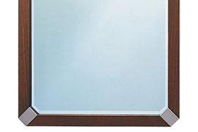 壁掛け鏡・ウォールミラー:ブラウン色の鏡